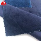 100% cotton high quality fine 14 wales indigo solid dyed corduroy fabric