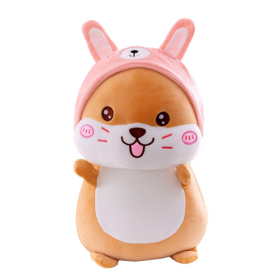 Creative transforming cute mouse plush toy doll cute pillow cartoon <strong>rabbit</strong> turned mouse