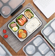 Amazon Plastic Voedsel Container <span class=keywords><strong>Lunchbox</strong></span> Met 4 5 cellen Compartimenten 304 Rvs Bento <span class=keywords><strong>Lunchbox</strong></span> Lekvrij Kids <span class=keywords><strong>Student</strong></span>