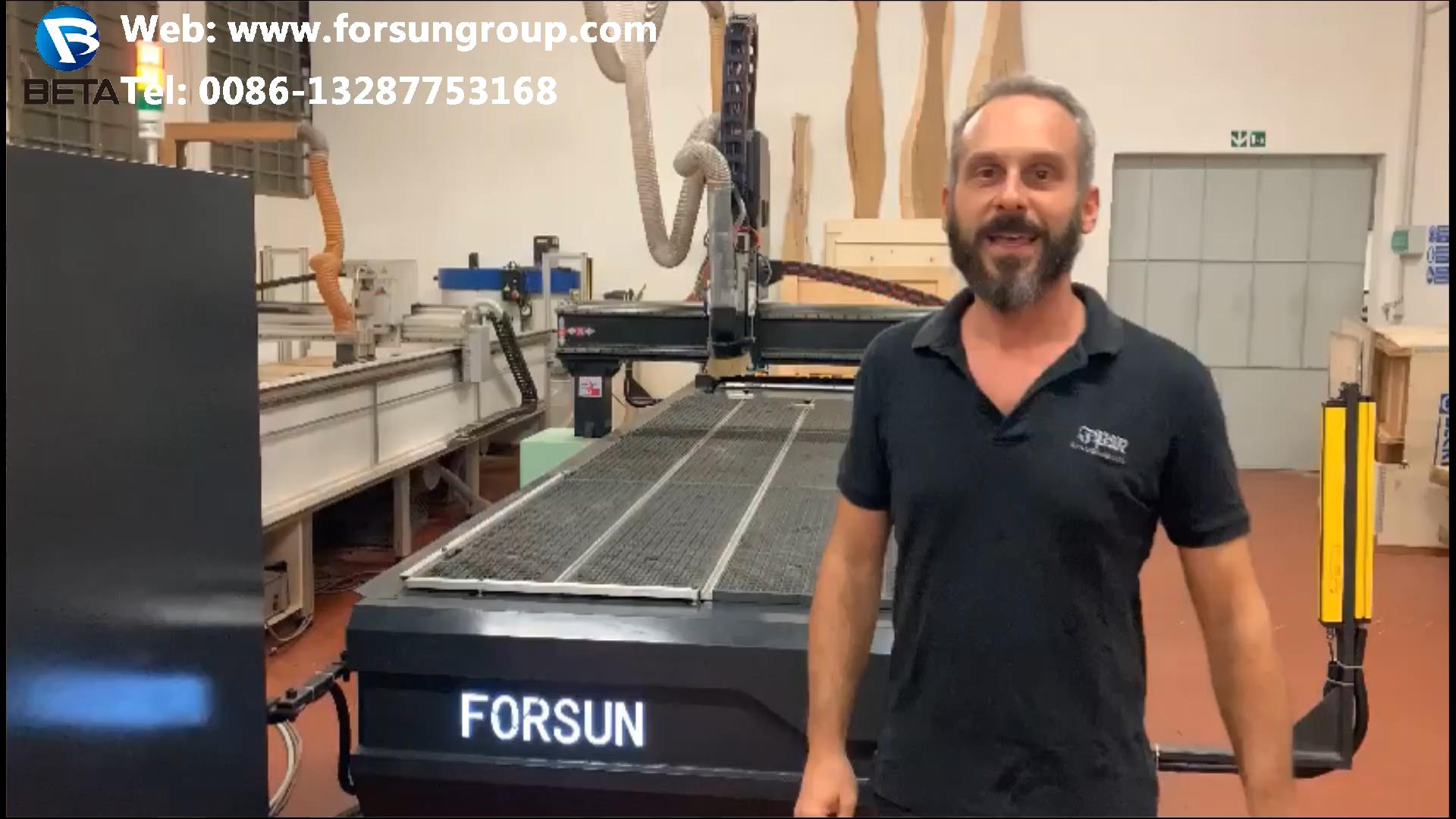 FORSUN CNC 1325 cnc pipe plasma cutter for welding tube cutting machine