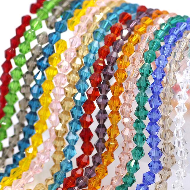 Tchèque Cristal Verre à Facettes Bobine biconique perles 8 mm CLAIR 125 PC ART HOBBY Bijoux