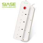 SIASE 4way multiple power universal extension socket with usb