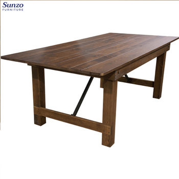 French Design Vintage Wood Farm folding Dining Table