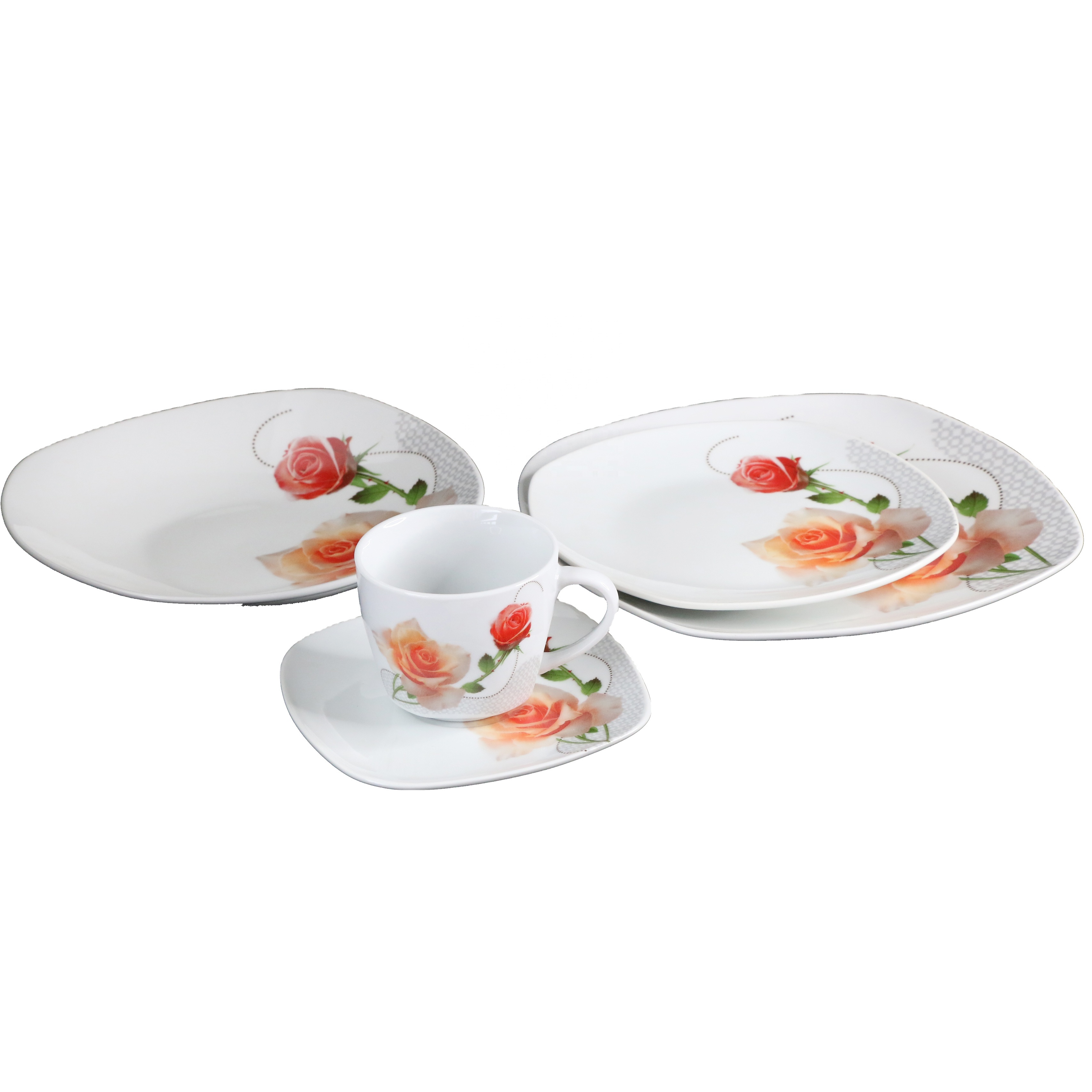 20 pièces en céramique nouvelle vaisselle en porcelaine 20 pièces ensembles de dîner, S-vaisselle de forme;