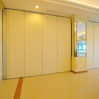 Aluminium Track Roller Sliding Room Divider Acoustic Movable Folding Conference Room Partition Wall