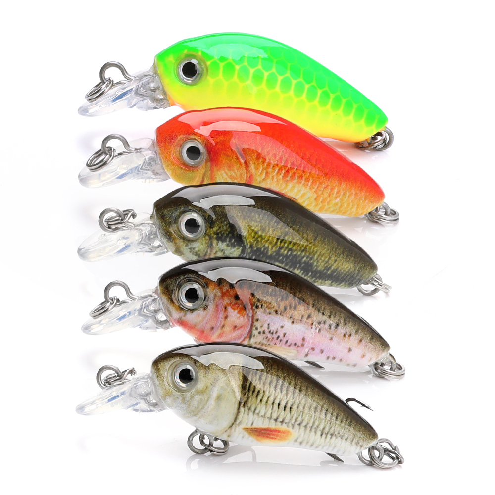 Custom or blanks 3.6g 36mm mini crankbait set artificial small fishing bait wholesale crank fishing lures