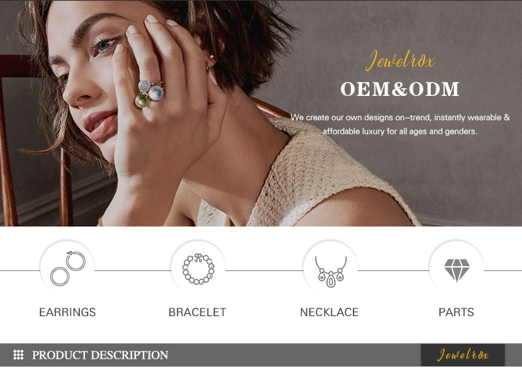Jewelrox Messing Cubic Zirkon Ohrringe Hoop Für Frauen Schmuck
