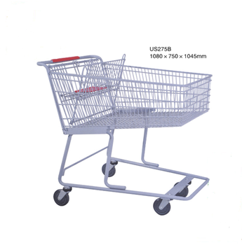 Shopping cart US style (shopping trolley)