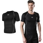 High Quality OEM Men Custom Compression Tight Wear Short Sleeve Running Jogging Fitness Sportswear T-shirt