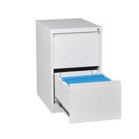Customized office drawer storage cabinet vertical narrow edge metal 2 layer index card box file cabinet