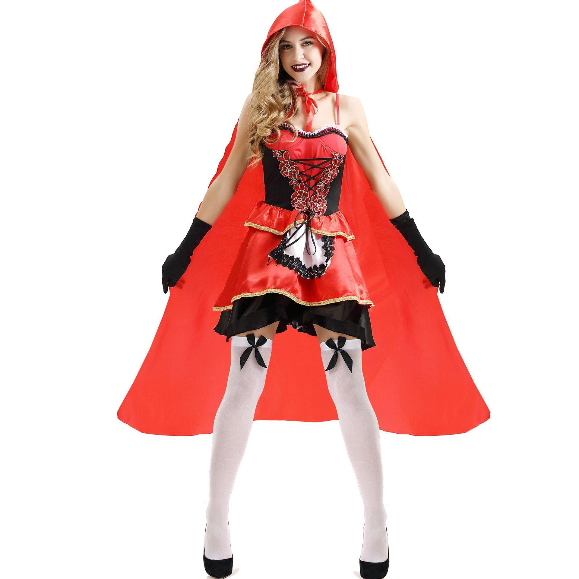 Cosplay Kostüm Halloween Uniform C Anime Frauen Menge Kleine rote Reit haube Kleider