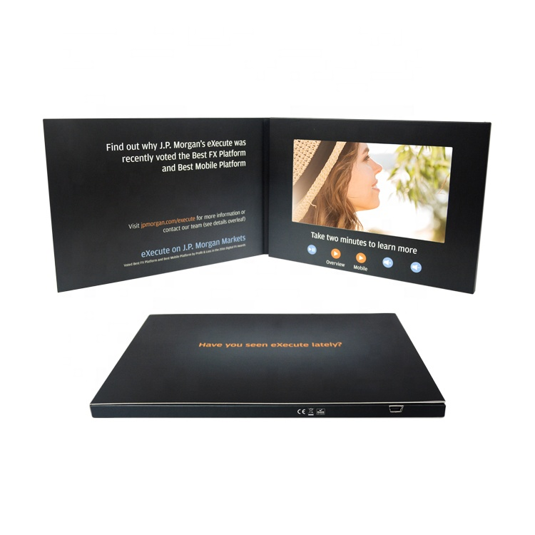 Customized 단, 법인 큰 모티브 2.4 4.3 7 Inch LCD Display A4 Video 브로셔 A5 Digital 인사말 Card 대 한 Brand Business 마케팅
