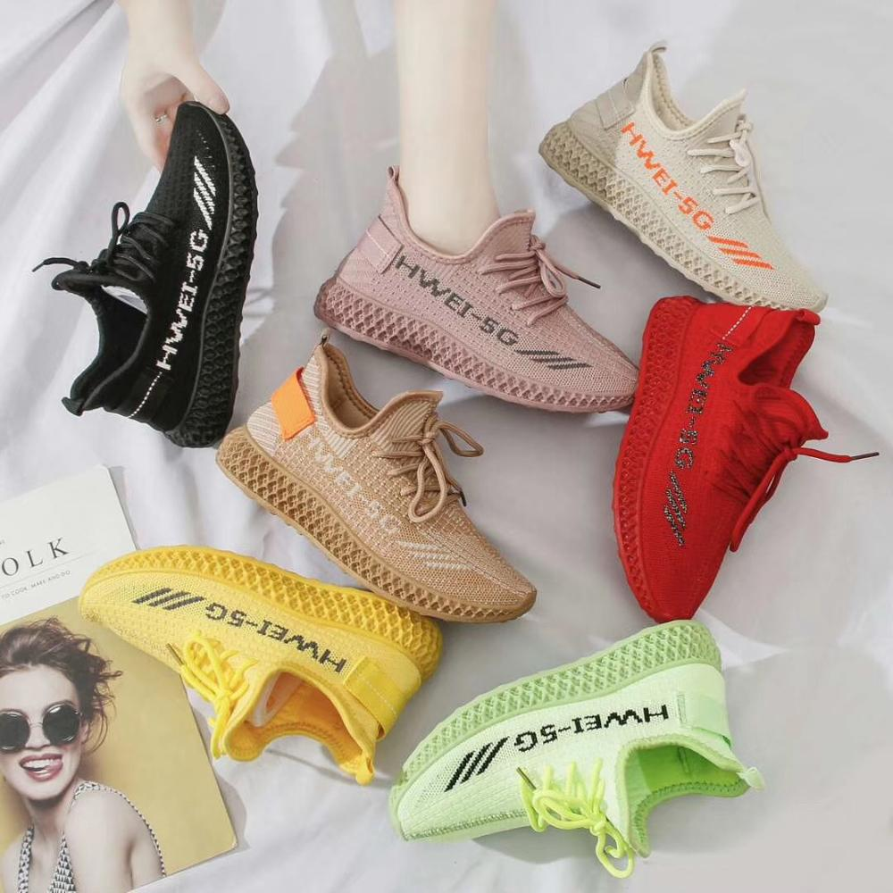 W10161 High Quality Flying Woven Socks Net Shoes Women Running Sports Casual Students Sneakers
