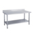 Stainless Steel Fabrication Kitchen Work Table With Backaplash (Square Leg)
