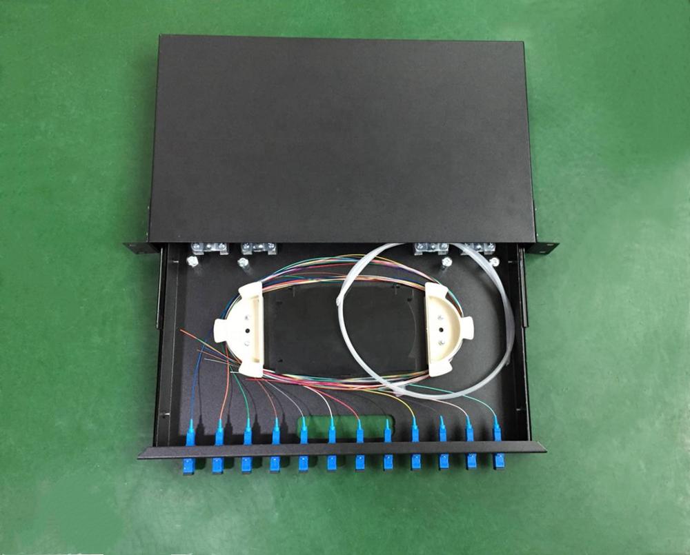 Холоднокатаная металлическая 24 портовая волоконно-оптическая коммутационная панель дуплексная волоконно-оптическая коммутационная панель 24