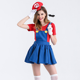 Super mario & Luigi fancy dress costumes red and green panty cosplay women clothes for halloween and carnival party