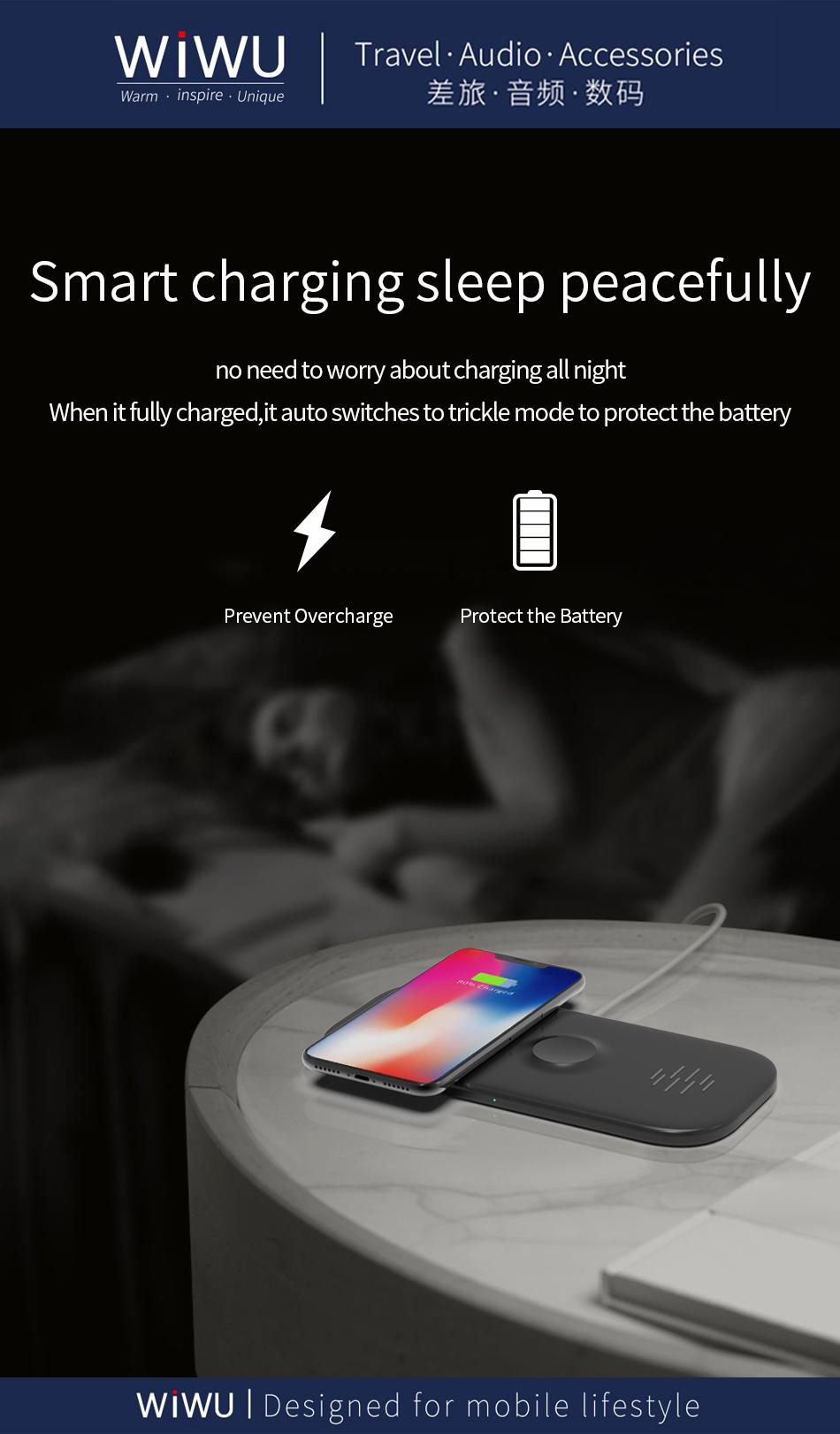 WIWU M2 二合一 无线充电器 (https://www.wiwu.net.cn/) 无线充电器 第7张