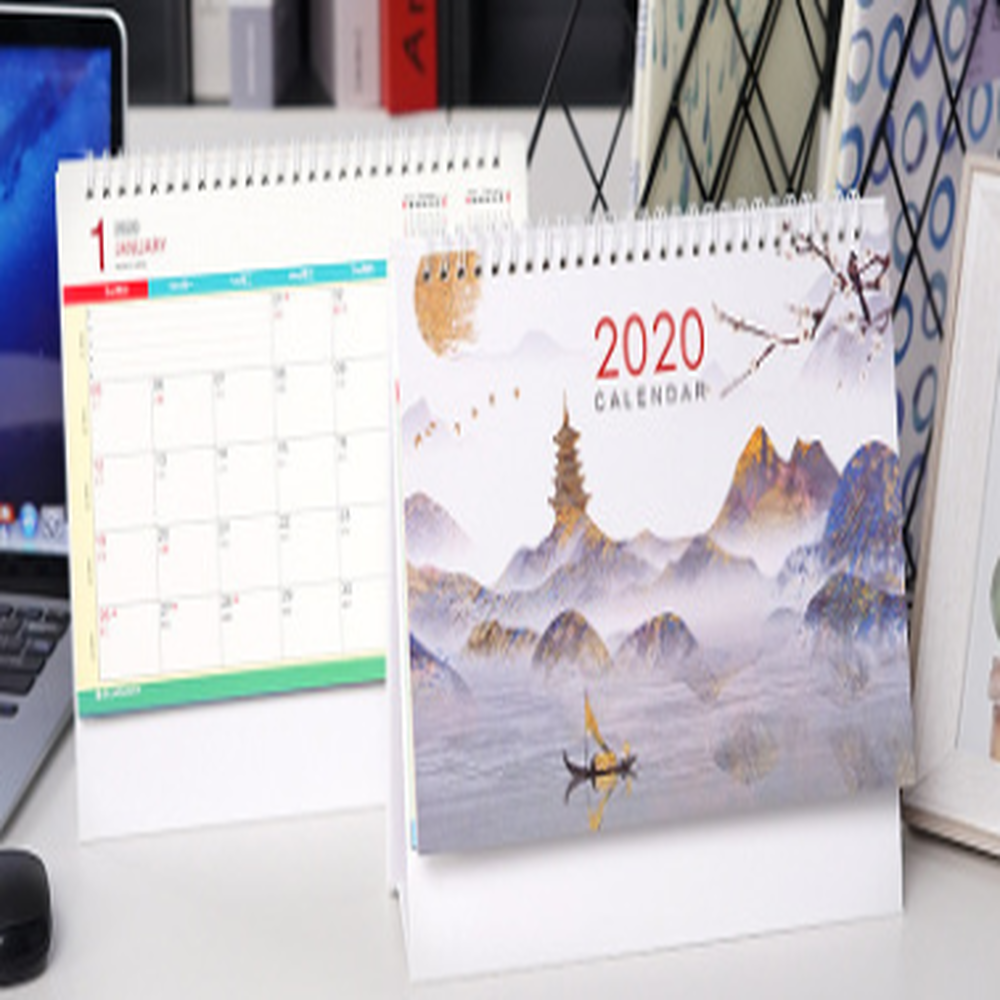 China de fábrica al por mayor personalizado papel de arte A3 tamaño calendario de pared