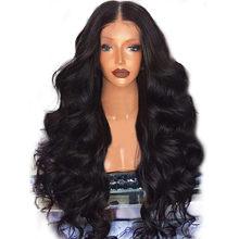 Женский модный парик, черные синтетические волосы, длинные парики, волнистые кудрявые парики, вечерние парики, длинные полностью вьющиеся к...(Китай)