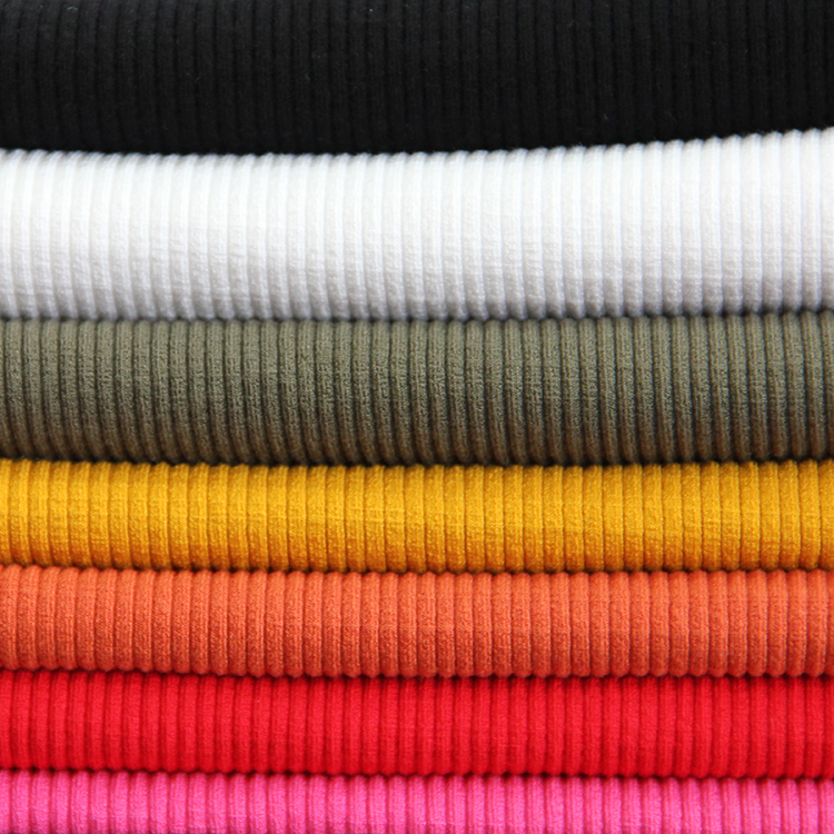 88/12 rayon spandex 4x2 rib knit fabric cuff rib fabric-18003623
