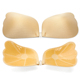 Wing-shape Adhesive Push Up Bra Drawstring Sexy Strapless Invisible Silicone Bra