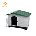 Eco friendly plastic luxury extra big outdoor indoor PVC large pet sex dog house PP Material Weather Resistant Dog Cage