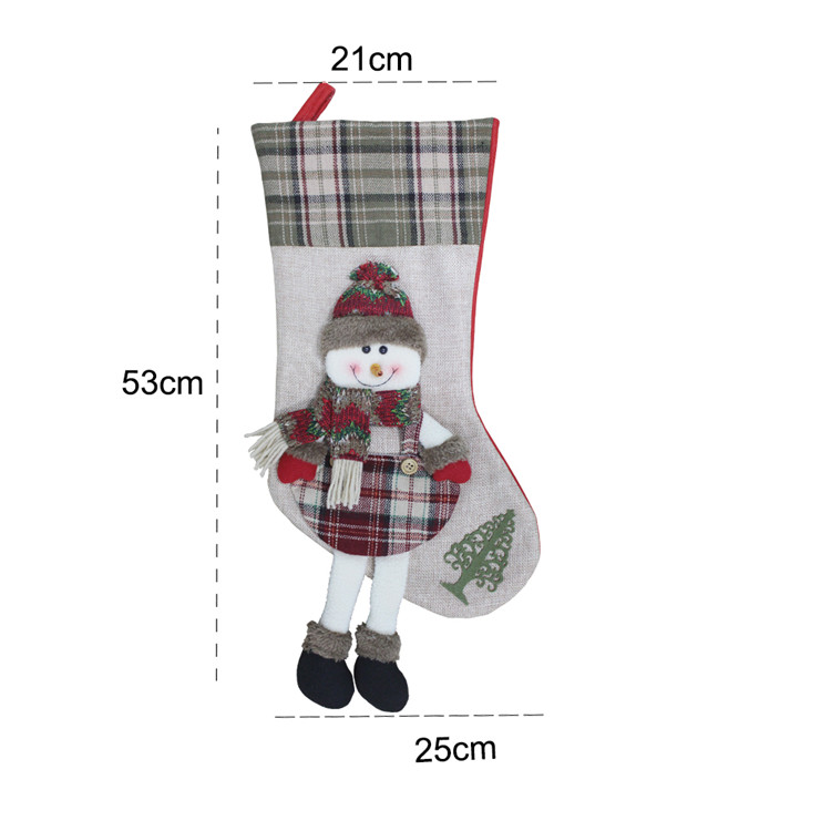 Custom Luxury Christmas Stocking Decoration