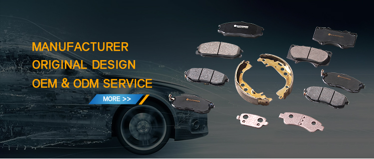 Factory Directly Sell  Auto Semi-metallic Brake Pads For Car D1288-8405