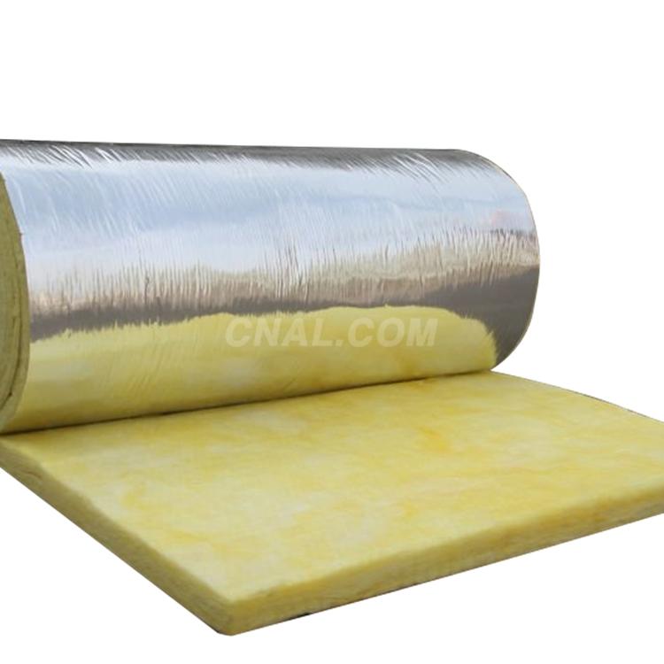 בתים טרומיים קירוי אש 25mm 50mm צמר מוצרים נוקשה צמר זכוכית רדיד גג בידוד