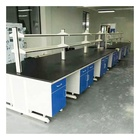 Laboratory workbench medical Electrical Laboratory Furniture Table With Cabinets Storage