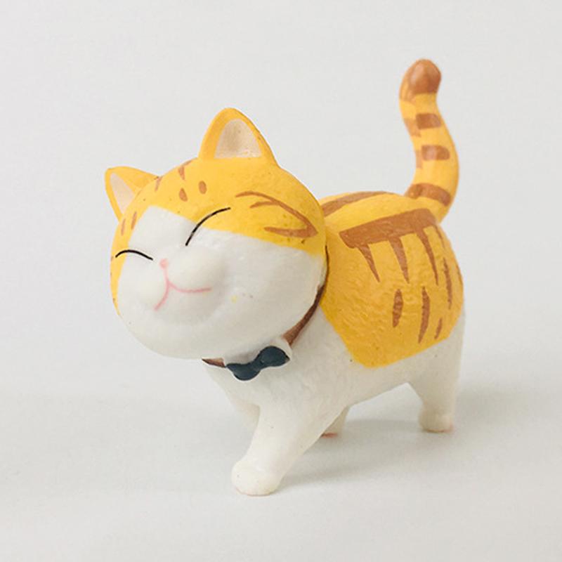 Mini kedi kawaii koleksiyon model oyuncaklar çocuklar için japonya Anime güzel çan kedi tatil hediye aksiyon figürü mini reçine kediler