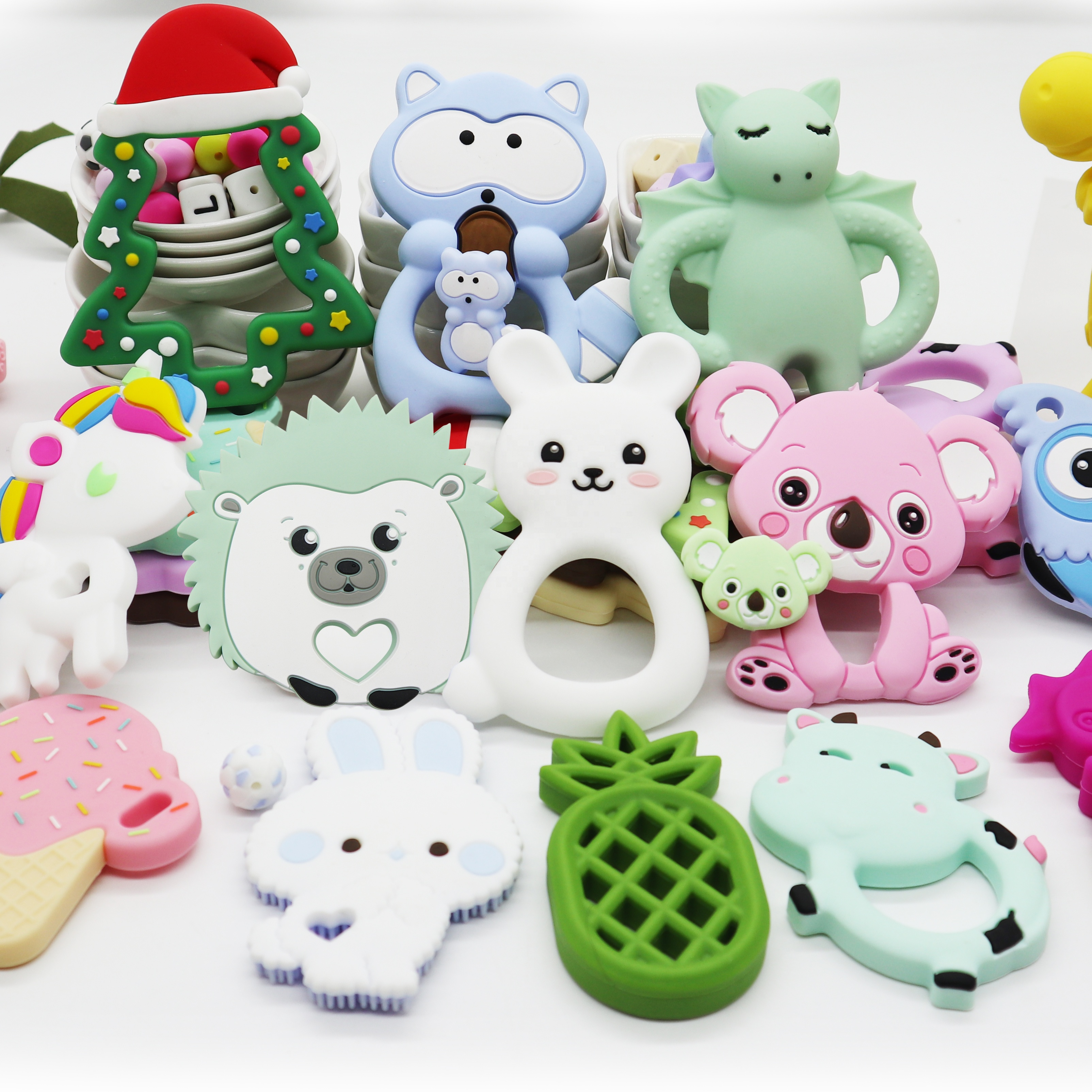 Amazon Hot Sale Food Grade Teether Silicone for Newborn Babies