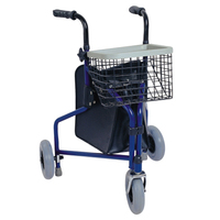 Health Care Three Wheels Aluminum Rollator For Elderly