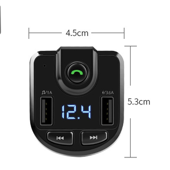Car Accessories 5V Bluetooth Music Audio Player Hands Free Wireless FM Transmitter Car Kit MP3 Player