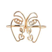 2 шт Мода в этническом стиле Форма Маски кольцо на палец Личность Сплав Кольцо для Леди Женщины Девушки невесты(Китай)