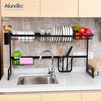 85cm Over Sink Drainer Dish Drying Rack Stainless Steel Kitchen Organizer Storage Holders