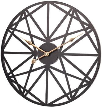Hanssz Caoa Large Wall Clock 18 Inch Creative Vintage Metal Clocks Geometric Dial Silent Battery Operated Clock Decorative Home