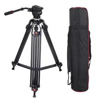 1.6M JY0508 0508A Load 5kg Professional Tripod for Camera Aluminum Tripod Stand DSLR Fluid Head Damping Tripods for Video Studio