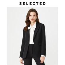 Женский приталенный Блейзер с воротником на одной пуговице, пиджак S | 419372514(Китай)