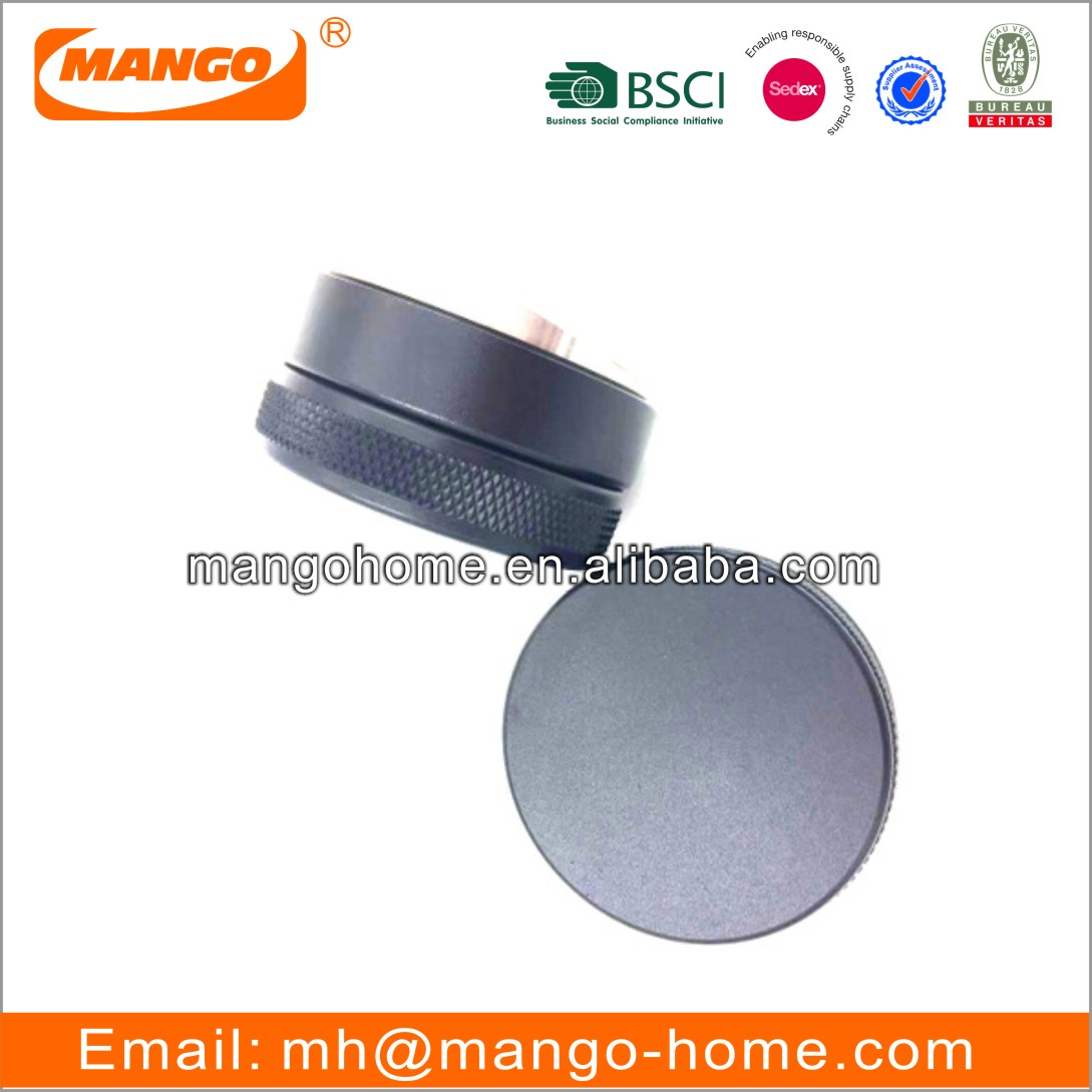 Non-slip Lines Espresso Handle Press Coffee Bean Powder Stainless Steel Flat Base Macaron Coffee Tamper