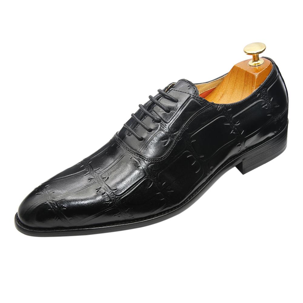 उच्च-ग्रेड इतालवी डिजाइन के लिए ऑक्सफोर्ड जूते uppers प्रामाणिक पुरुषों की चमड़े की पोशाक जूते पुरुषों
