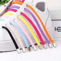 New style Eco-friendly multi color hot sale Mental tip Elastic lazy shoelace sneaker accessories no tie shoelaces