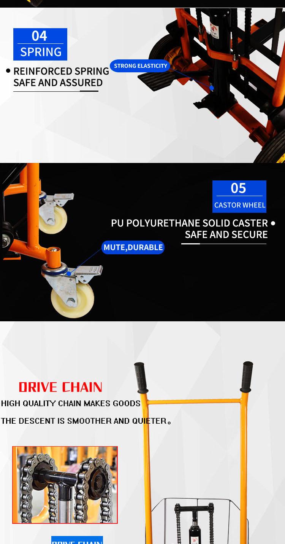 Contrapeso eléctrico 1t racional de diseño de ingeniería capacidad de elevación de apilador