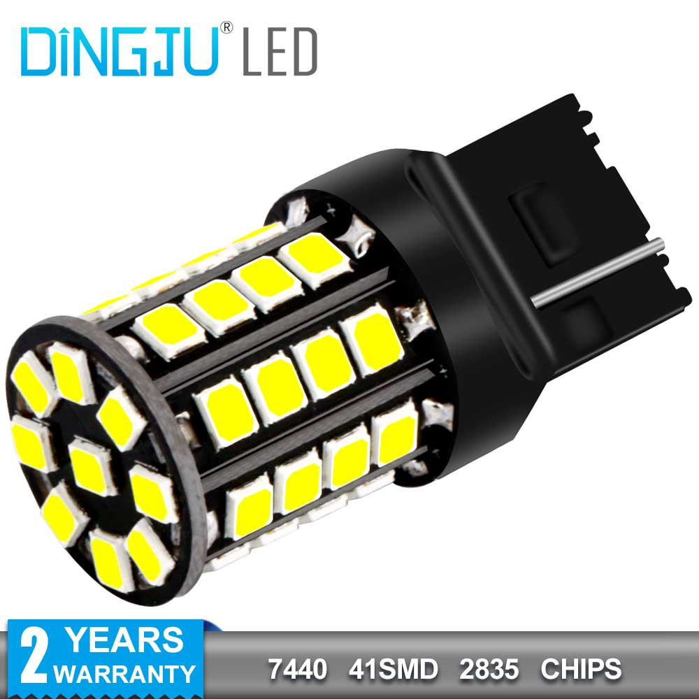 Factory Direct 1156 7440 7443 41smd 2835 Car Led Turn Signal Light T20 W21w Auto Bulb 12 <strong>V</strong> 2.4W Brake Lamp DJ205-7440