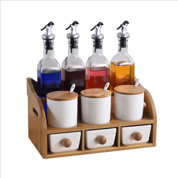 Square Oil Pot Ten-piece Bottle Cans Daily Ceramic Cooking Pot
