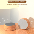 Portable Mini Speaker Cute Colorful Usb Super Bass Loud Sound Wooden Bamboo Home Table Pc Small Mini Wireless Portable Bluetooth Speaker