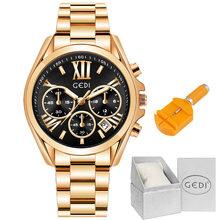 Relogio Feminino GEDI класса люкс из розового золота Для женщин часы браслет женские наручные часы Повседневное кварцевые часы Reloj Mujer подарки для дев...(China)