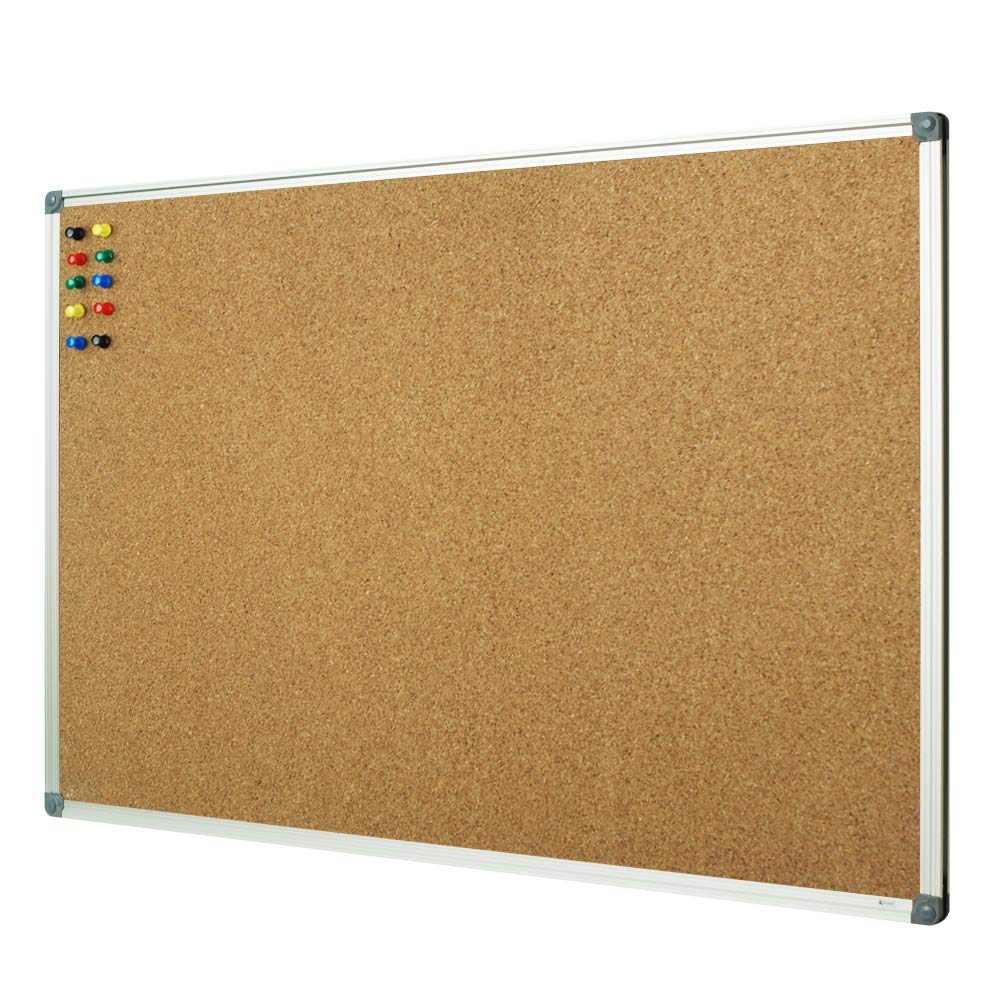 Custom size bulletin board Wideny home office supply Aluminum frame recyclable wall mounted hanging cork board