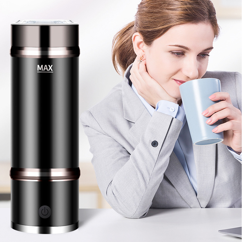 MultiFunction 400ML Portable Rechargeable Stainless Steel Rich Hydrogen SPE Water Generator Bottle With Absorbable Pure Hydrogen