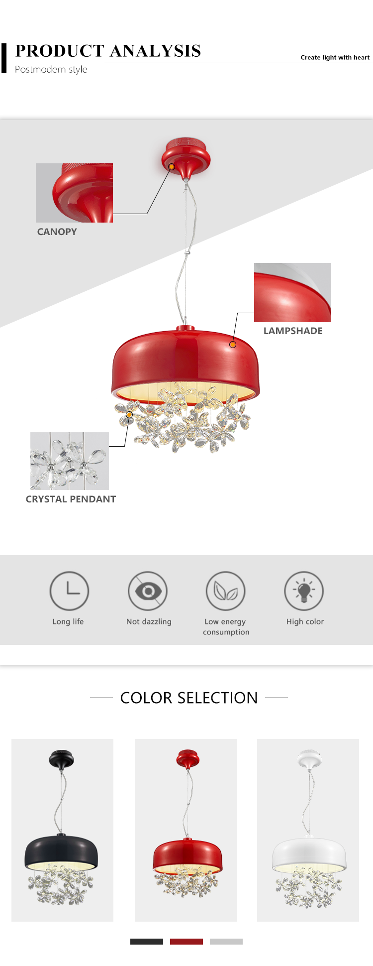 Restaurant/Canteen crystal ceiling lights sale led light ceiling lamps